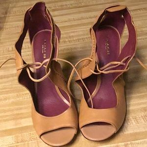 Coach Tan Leather Heels